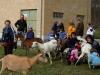 zájemci si mohli vyzkoušet dojení koz