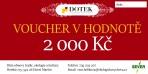 Dárkový poukaz – voucher – v hodnotě 2000 Kč